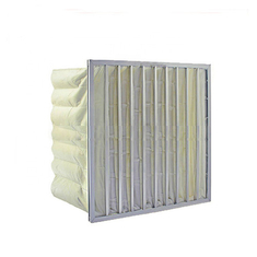China Industrial Medium Efficiency Filter Plastic Frame Large Air Permeability supplier