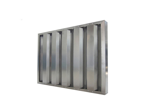 China Heavy Duty 430ss Baffle Grease Filters Commercial Kitchen Hood Baffle Filter supplier