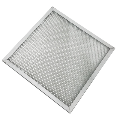 High Efficiency Hepa Pre Filter Aluminum Galvanized Frame With Wire Mesh
