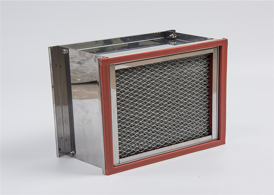 China Pharmaceutical Industrial Hepa Filter Heat Resistant Stainless Steel Frame factory