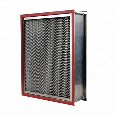 China Clean Room High Temperature Air Filter Ventilate System Use With Aluminum Pleated factory