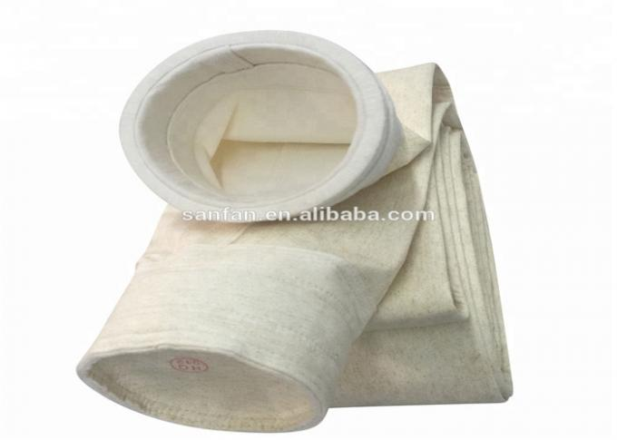 High Efficiency Fiberglass Filter Bag Needle Felt Pocket Type Heat Resistance